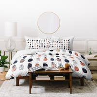 Dash and Ash Polka Pineapple Duvet Cover Set
