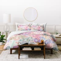 Schatzi Brown Phoenix Tropical Peach Duvet Cover Set