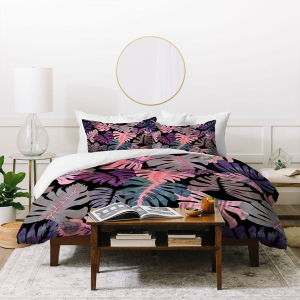 Schatzi Brown Phoenix Tropical Pink Duvet Cover Set