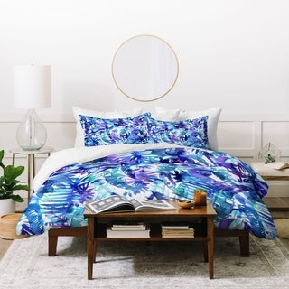 Schatzi Brown Vibe of the Jungle Blue Duvet Cover Set