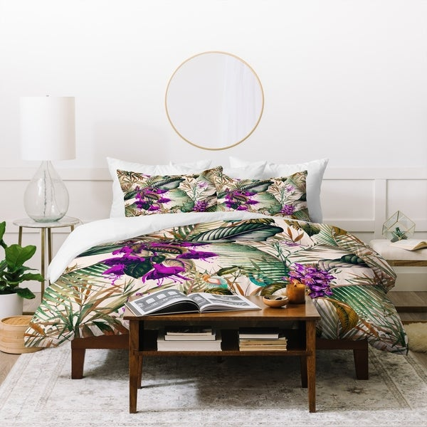 Deny Designs Botanical Foliage Duvet Cover Set (3-Piece Set)