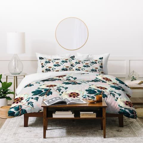 Marta Barragan Camarasa Flowery Blooming Geometric Duvet Cover Set