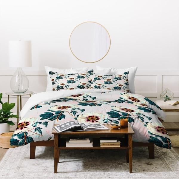 Marta Barragan Camarasa Flowery Blooming Geometric Duvet Cover Set