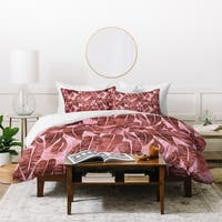 Schatzi Brown Island Goddess Leaf Rose Duvet Cover Set