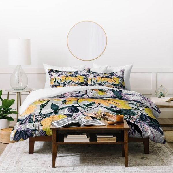 Marta Barragan Camarasa Abstract Pattern Yellow Bloom Duvet Cover Set. Opens flyout.