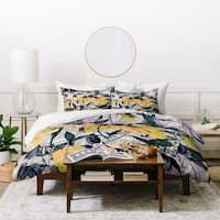 Marta Barragan Camarasa Abstract Pattern Yellow Bloom Duvet Cover Set