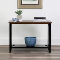 East At Main Keiko Brown/Grey Wood Console