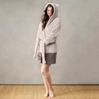 Teddy Bear Plush Adult Robe with Pockets
