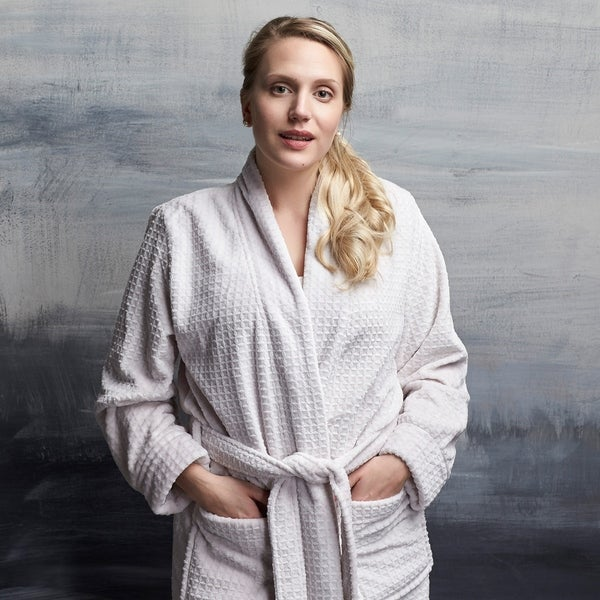 459f4acaf8 Shop Plush Waffle Robe with Pockets - On Sale - Free Shipping Today ...