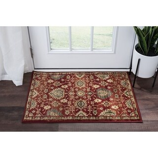 Alise Rugs Soho Transitional Red Scatter Mat Rug - 2' x 3'