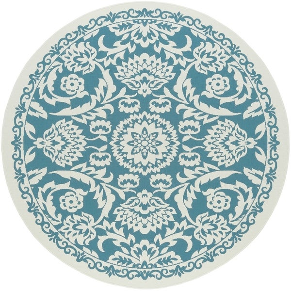 Alise Rugs Garden Town Transitional Oriental Round Area Rug - 7'10 x 7'10