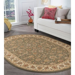 Alise Rugs Rhythm Traditional Oriental Oval Area Rug - 6'7 x 9'6