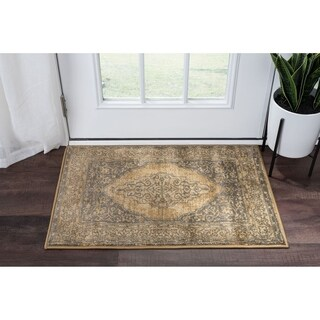 Alise Rugs Soho Transitional Beige Scatter Mat Rug - 2' x 3'