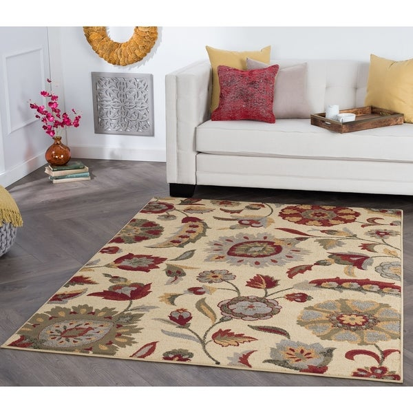 Shop Alise Rugs Rhythm Transitional Floral Area Rug 5 X