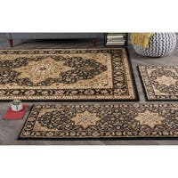 Alise Rugs Rhythm Traditional Oriental Three Piece Set - 5' x 7'