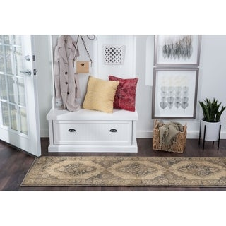 Alise Rugs Soho Transitional Ivory Runner Rug - 2'7 x 7'3