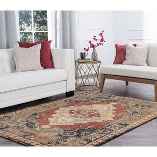 Alise Rugs Soho Transitional Border Area Rug - 5'3 x 7'3