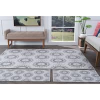Alise Rugs Majolica Transitional Geometric Three Piece Set - 5' x 7'