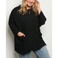 JED Women's Plus Size Comfy Fit Soft Fabric 3/4 Sleeve Tunic Top