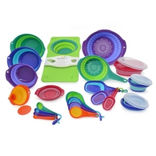 Squish 25-Piece Collapsible Colander, Bowl, Measuring and Storage Set
