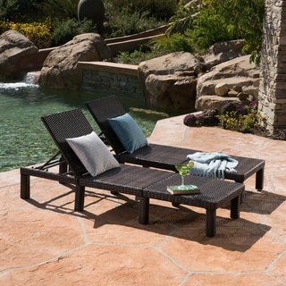 Jamaica Outdoor Chaise Lounge (Set of 2) by Christopher Knight Home
