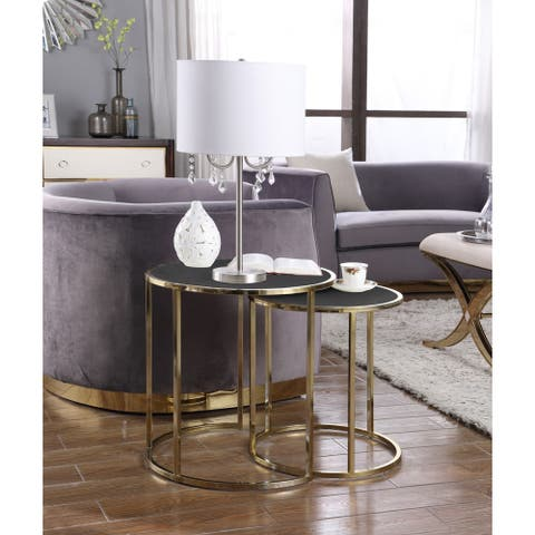 Chic Home Olivia Nightstand Side Table 2 Piece Set