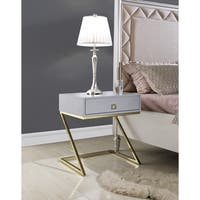 Chic Home Francisco Nightstand Side Table with Self Closing Drawer