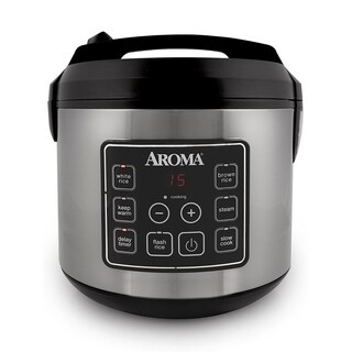 Aroma ARC-150SB 20-Cup (Cooked) Digital Cool-Touch Rice Cooker, Food Steamer and Slow Cooker
