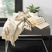"Safavieh Danita Beige 50 x 70-inch Throw Blanket - 50"" x 70"""
