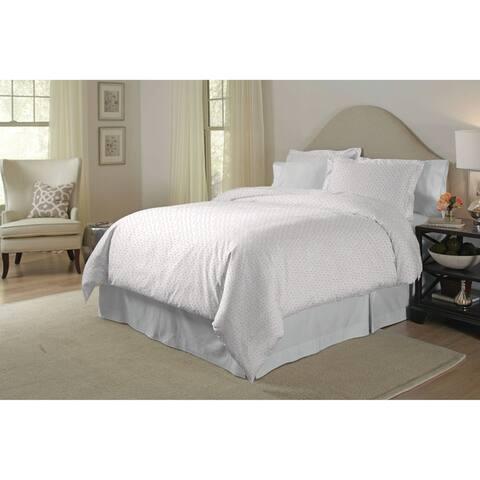 Pointehaven 200TC Cotton Percale Printed Duvet Set