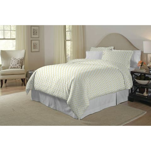 Pointehaven 200TC Cotton Percale Printed Duvet Set