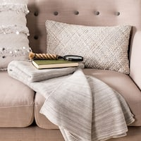 "Safavieh Loveable Grey Knit Throw Blanket - 50"" x 60"""