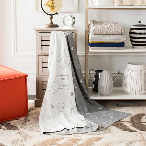 Safavieh Ella Grey Knit 50 x 60-inch Throw Blanket