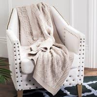 Safavieh Petal Pale Pink Knit 50 x 60-inch Throw Blanket