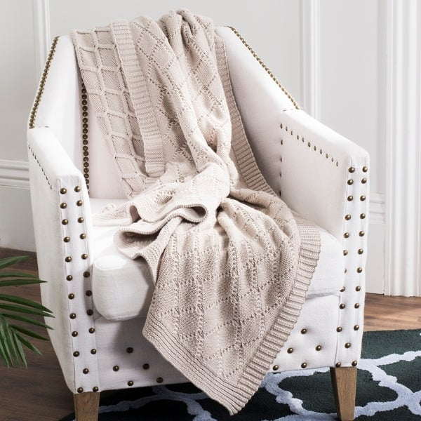 shop safavieh petal pale pink knit 50 x 60 inch throw blanket 50 x 60 on sale free. Black Bedroom Furniture Sets. Home Design Ideas