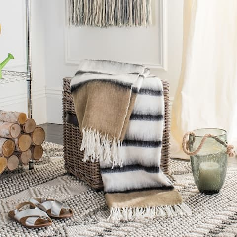 Safavieh Heidi Brown 50 x 70-inch Throw Blanket