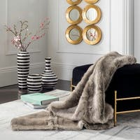 Safavieh Wavy Luxe Faur Fur Throw