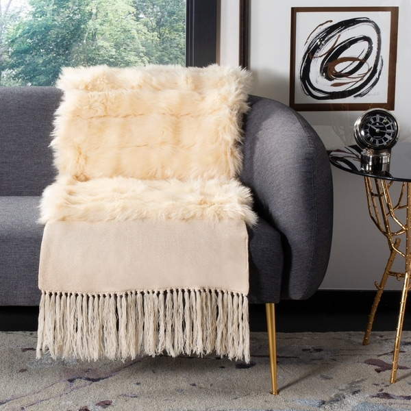 Safavieh Faux Fur Atsuko Bed Runner. Opens flyout.