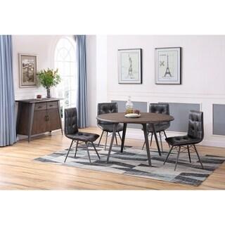 Best Master Furniture Antique Brown 5 Pieces Round Dinette Set