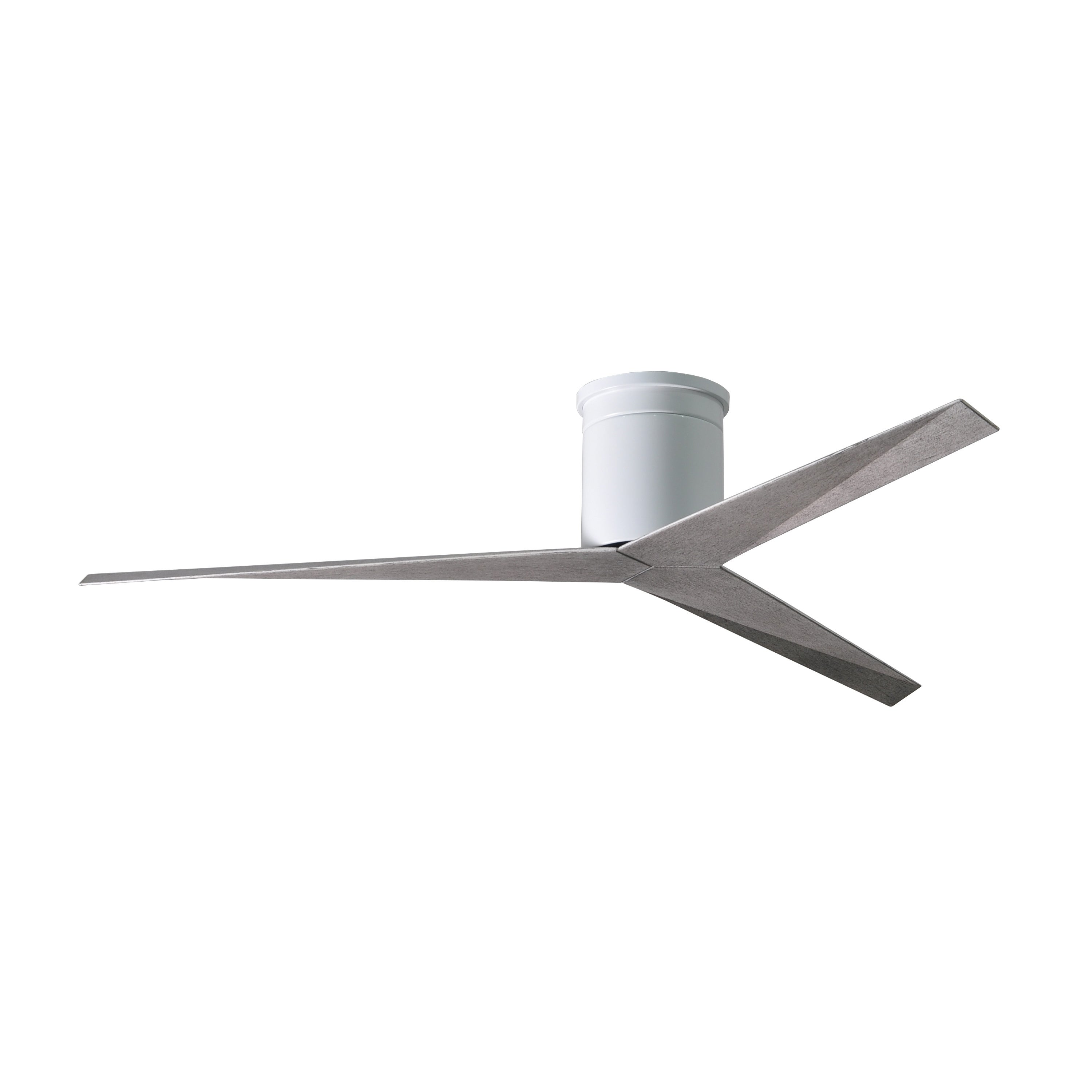 Image of: Shop Black Friday Deals On Eliza H 3 Blade Gloss White Flush Mount Paddle Ceiling Fan With Barn Wood Blades On Sale Overstock 21488639