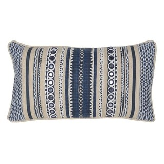 "Carissa 100% Cotton 14"" x 26"" Throw Pillow by Kosas Home, Natural"