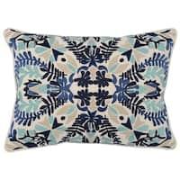 Kosas Home Kara Embroidered 14 x 20  Throw Pillow