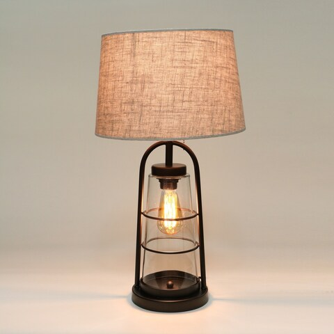 Arstill 2-Light Antique Bronze Table Lamp (Edison Bulbs Included)