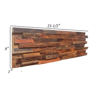 3D Mixed Brown Solid Barn Wood Panels 8 Panels Covers 10.40 SqFt Per Box