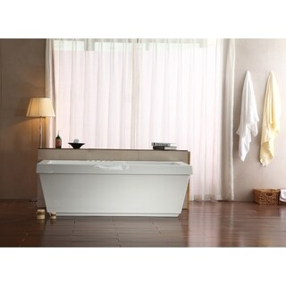 "59"" Streamline M-2021-59FSWH-DM Soaking Freestanding Tub With Internal Drain"