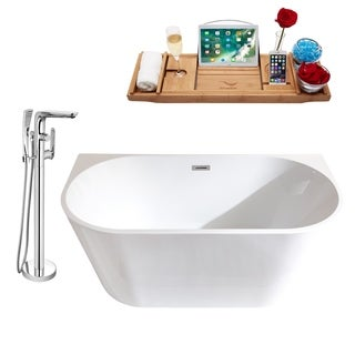 """Tub, Faucet and Tray Set Streamline 59"""" Freestanding MH2420-120"""