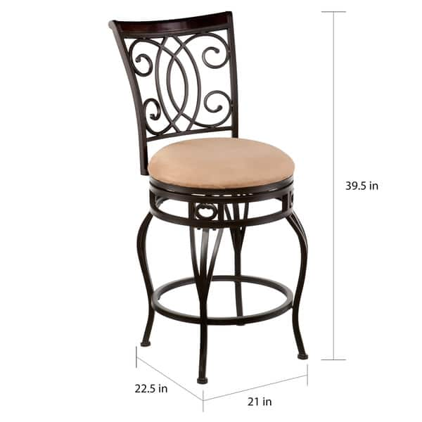 Wondrous Shop Copper Grove Traditional Brown Swivel Counter Stool Unemploymentrelief Wooden Chair Designs For Living Room Unemploymentrelieforg