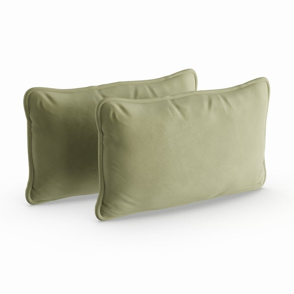 Havenside Home Assateague 2-piece Microsuede 20-inch Lumbar Throw Pillow Set