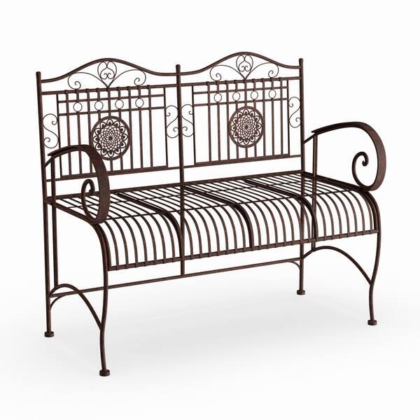 Phenomenal Shop Handmade Rust Patina Rustic Metal Garden Bench On Alphanode Cool Chair Designs And Ideas Alphanodeonline