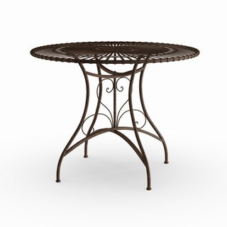 Maison Rouge Mary Handmade Rust Patina Rustic Circular Garden Table